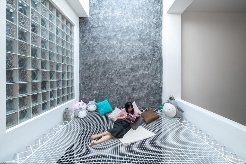 Modern, Landed, Living Room, Grey Stone, Adda Height, Interior Designer, Fuyu Dezain Sdn. Bhd., Contemporary