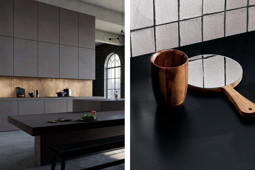 Caesarstone quartz dark collection 1
