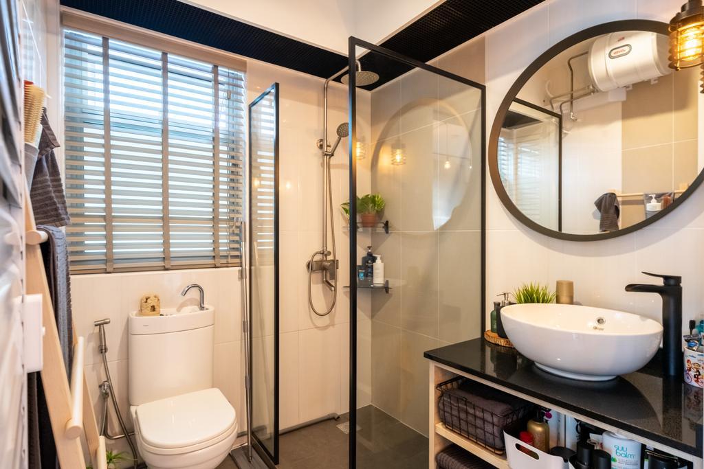 Industrial, HDB, Bathroom, Canberra Street, Interior Designer, Dots 'N' Tots, Contemporary