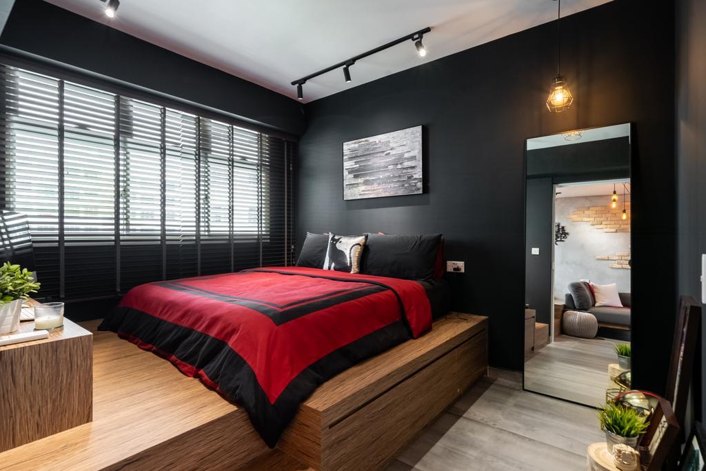 Industrial, HDB, Bedroom, Canberra Street, Interior Designer, Dots 'N' Tots, Contemporary
