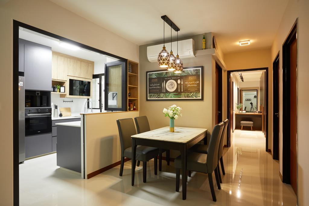 Contemporary, HDB, Dining Room, Tampines Avenue 9, Interior Designer, Dots 'N' Tots
