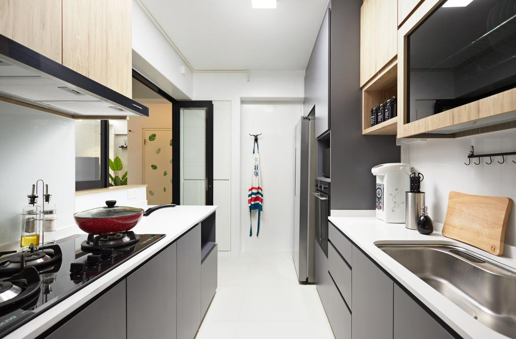 Contemporary, HDB, Kitchen, Tampines Avenue 9, Interior Designer, Dots 'N' Tots