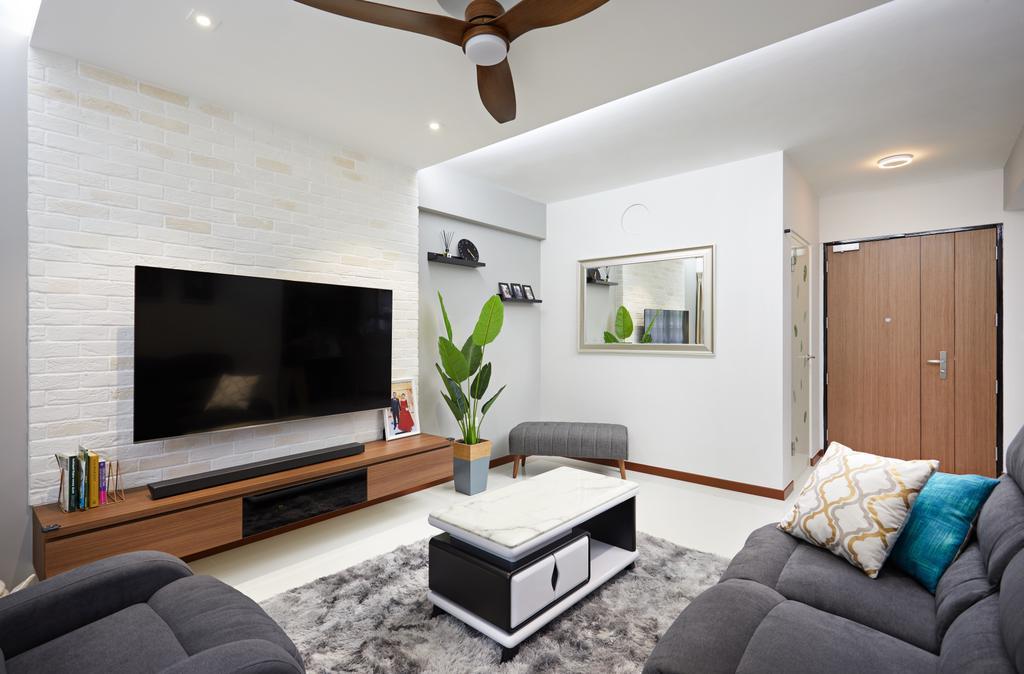 Contemporary, HDB, Living Room, Tampines Avenue 9, Interior Designer, Dots 'N' Tots