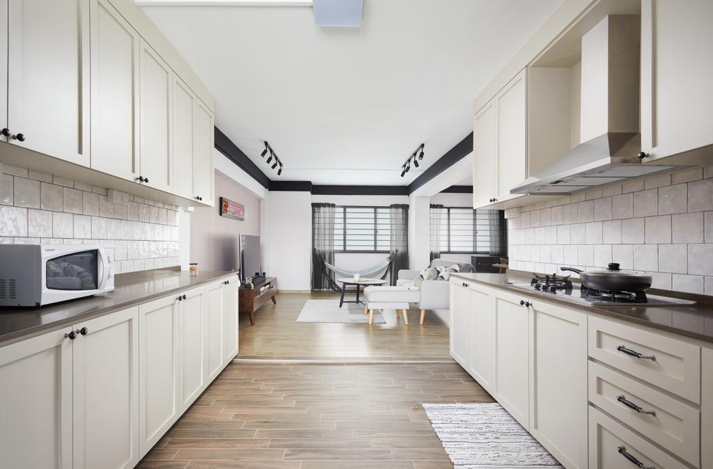 Scandinavian, HDB, Kitchen, Tampines Street 33, Interior Designer, Dots 'N' Tots