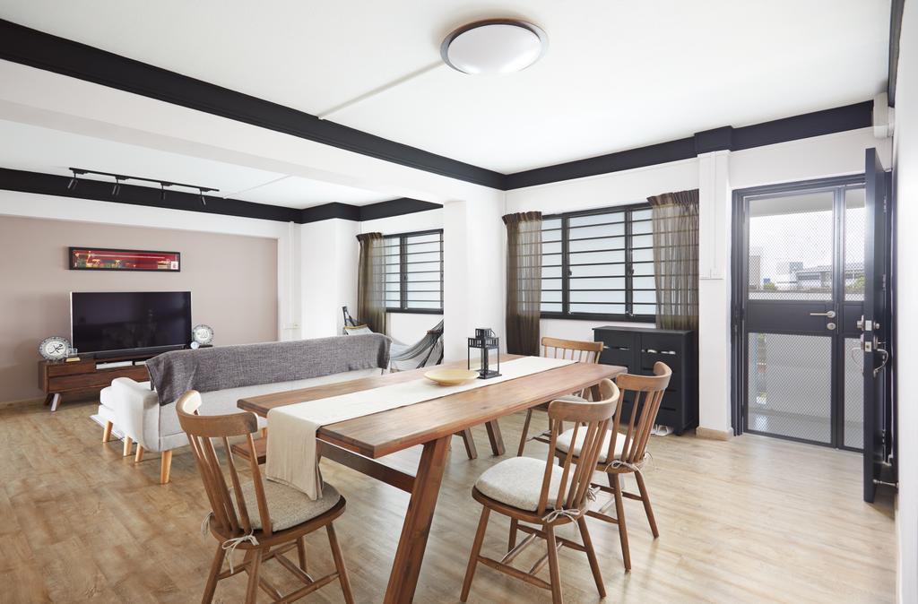 Scandinavian, HDB, Dining Room, Tampines Street 33, Interior Designer, Dots 'N' Tots