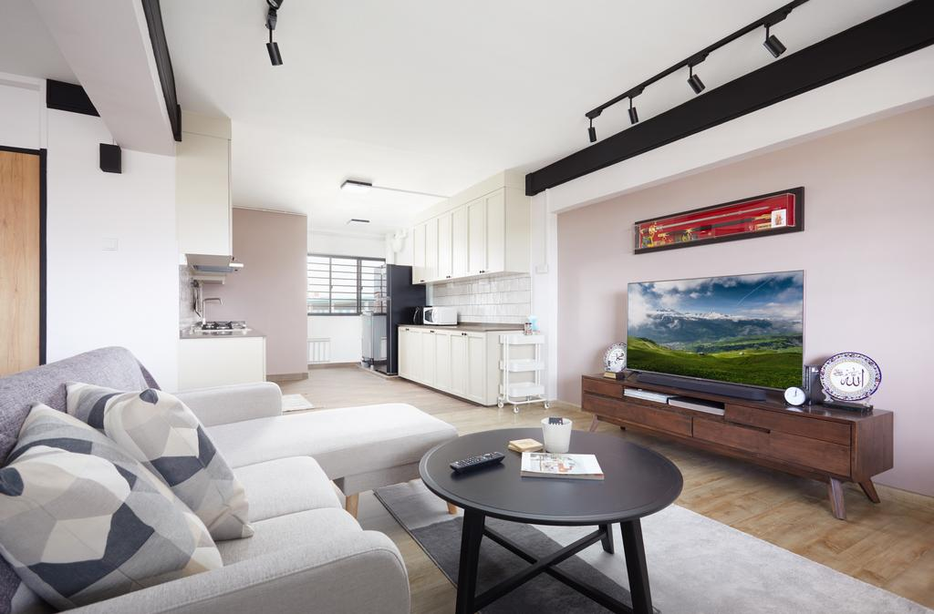 Scandinavian, HDB, Living Room, Tampines Street 33, Interior Designer, Dots 'N' Tots