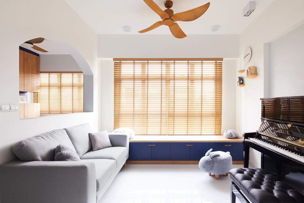 Contemporary, HDB, Living Room, Bukit Batok West, Interior Designer, Dots 'N' Tots