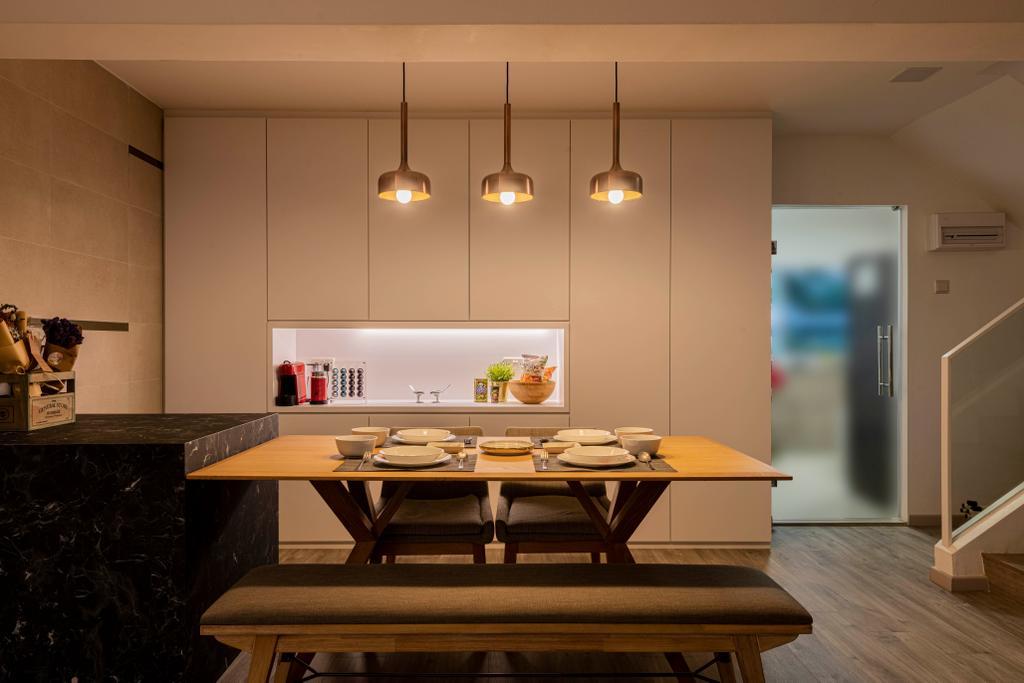 Contemporary, Condo, Dining Room, Braddell View, Interior Designer, i. Haven Design