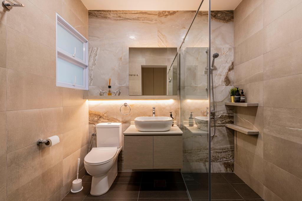 Contemporary, Condo, Bathroom, Braddell View, Interior Designer, i. Haven Design