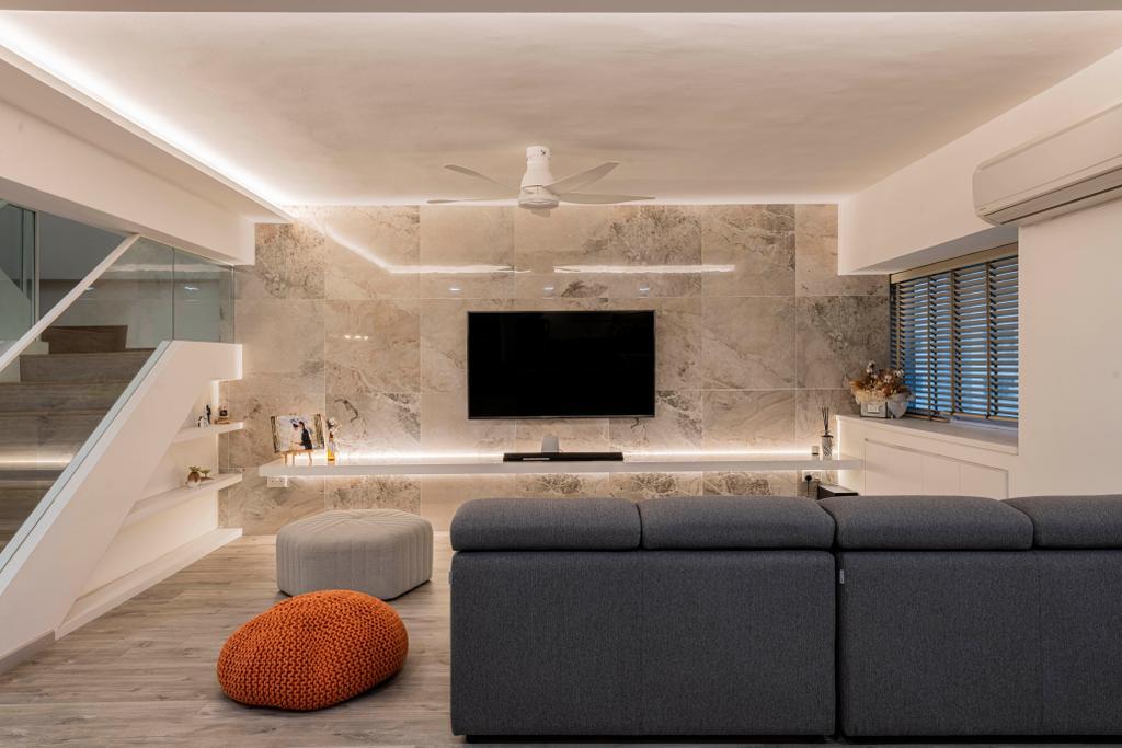 Contemporary, Condo, Living Room, Braddell View, Interior Designer, i. Haven Design