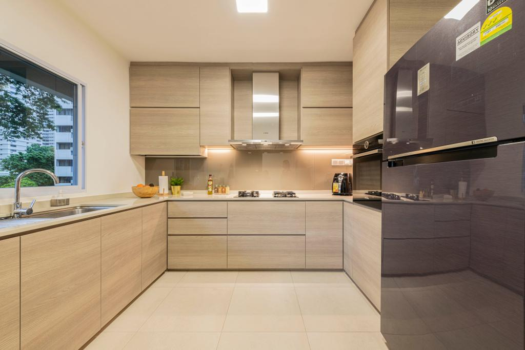 Contemporary, Condo, Kitchen, Braddell View, Interior Designer, i. Haven Design