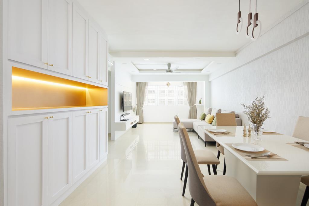 Contemporary, HDB, Living Room, Woodlands Drive, Interior Designer, Dots 'N' Tots