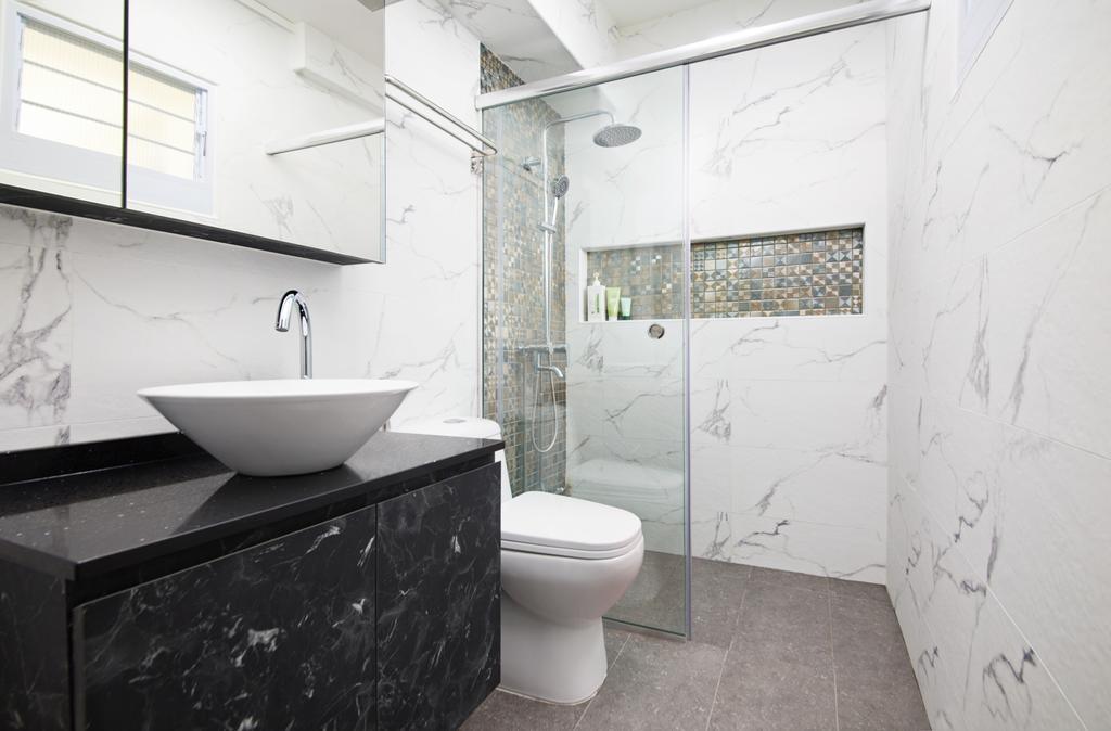 Contemporary, HDB, Bathroom, Woodlands Drive, Interior Designer, Dots 'N' Tots