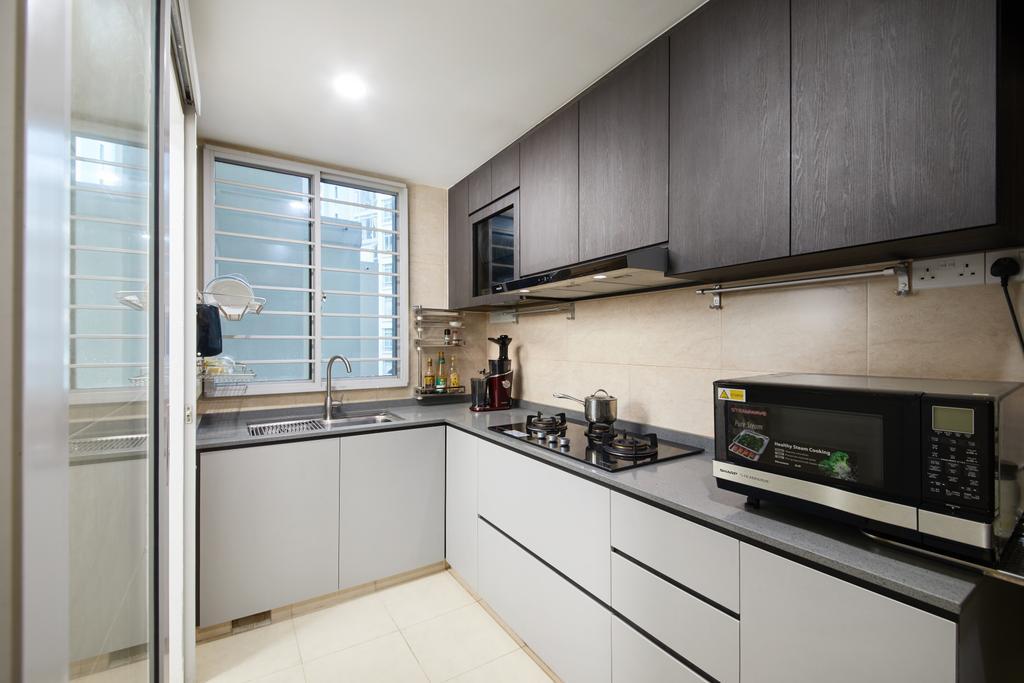 Modern, Condo, Kitchen, Lakeshore, Interior Designer, Dots 'N' Tots