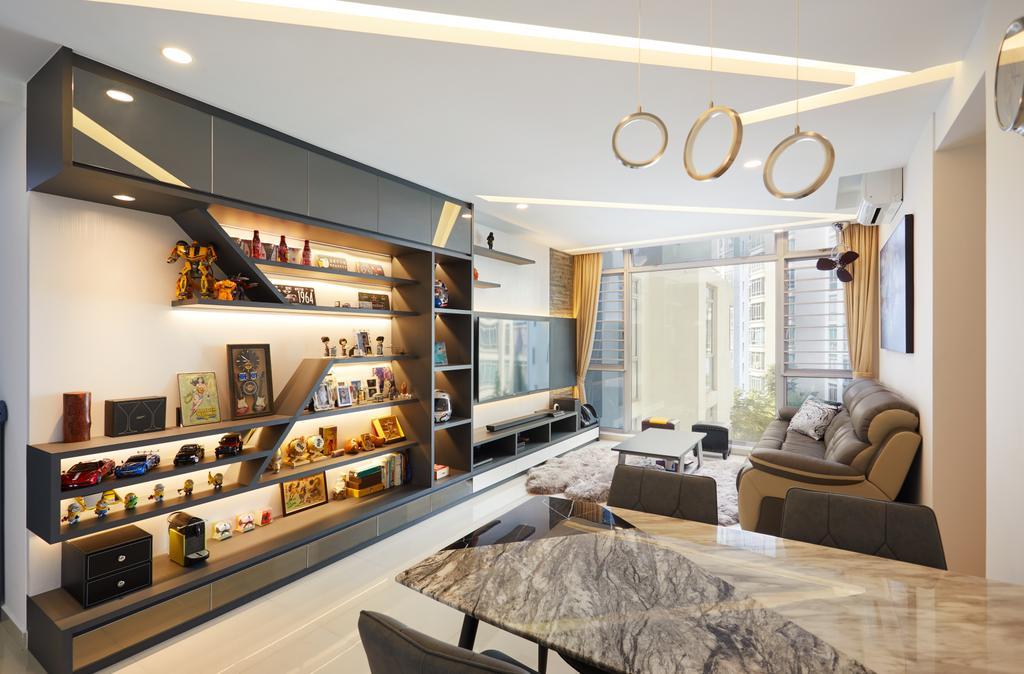 Modern, Condo, Living Room, Lakeshore, Interior Designer, Dots 'N' Tots