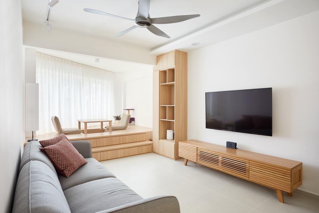 Minimalistic, HDB, Living Room, Ang Mo Kio Street 21, Interior Designer, Dots 'N' Tots