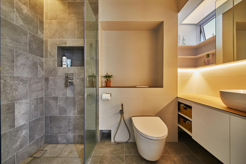 Minimalistic, HDB, Bathroom, Ang Mo Kio Street 21, Interior Designer, Dots 'N' Tots