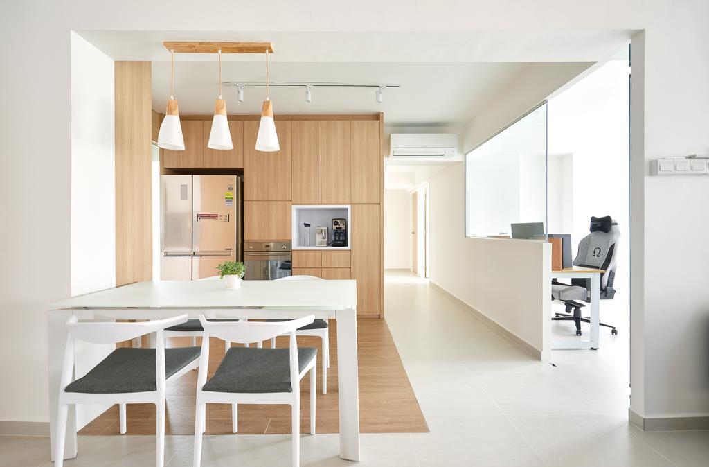 Minimalistic, HDB, Dining Room, Ang Mo Kio Street 21, Interior Designer, Dots 'N' Tots