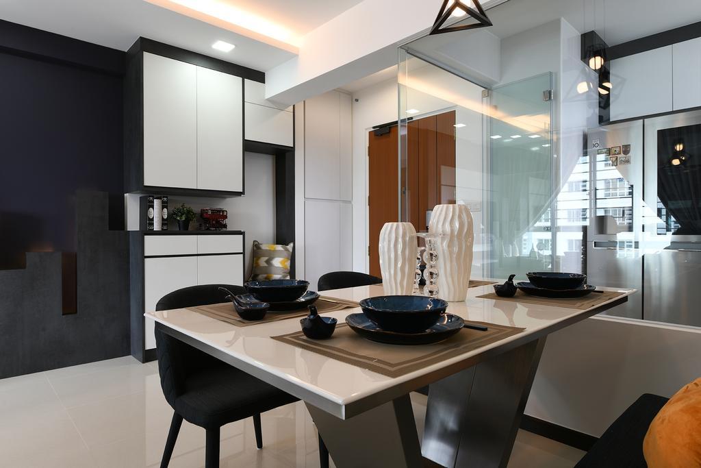 Modern, HDB, Dining Room, Telok Blangah Street 31, Interior Designer, Thom Signature Design, Contemporary