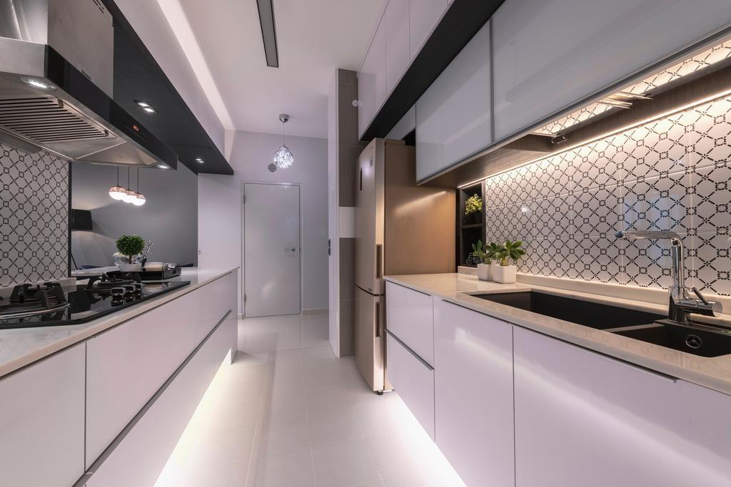 Contemporary, HDB, Kitchen, Bendemeer Road, Interior Designer, Thom Signature Design