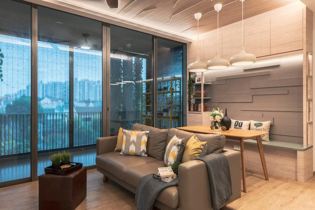 Contemporary, Condo, Living Room, The Tembusu, Interior Designer, Thom Signature Design