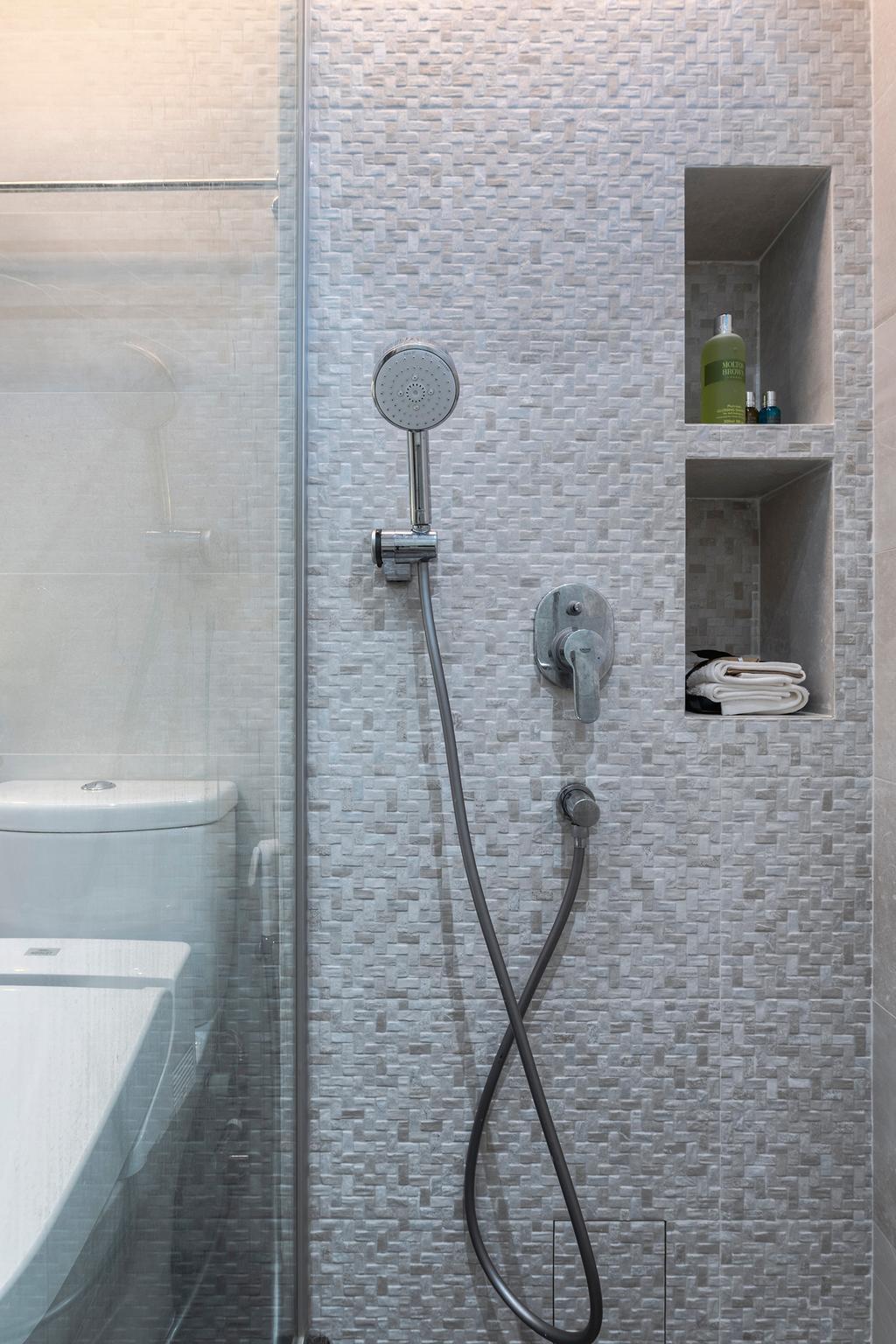 Scandinavian, HDB, Bathroom, Punggol Walk, Interior Designer, Thom Signature Design, Contemporary