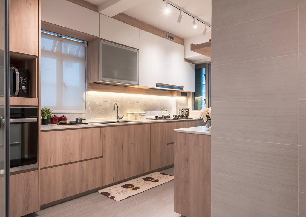 Scandinavian, HDB, Kitchen, Punggol Walk, Interior Designer, Thom Signature Design, Contemporary