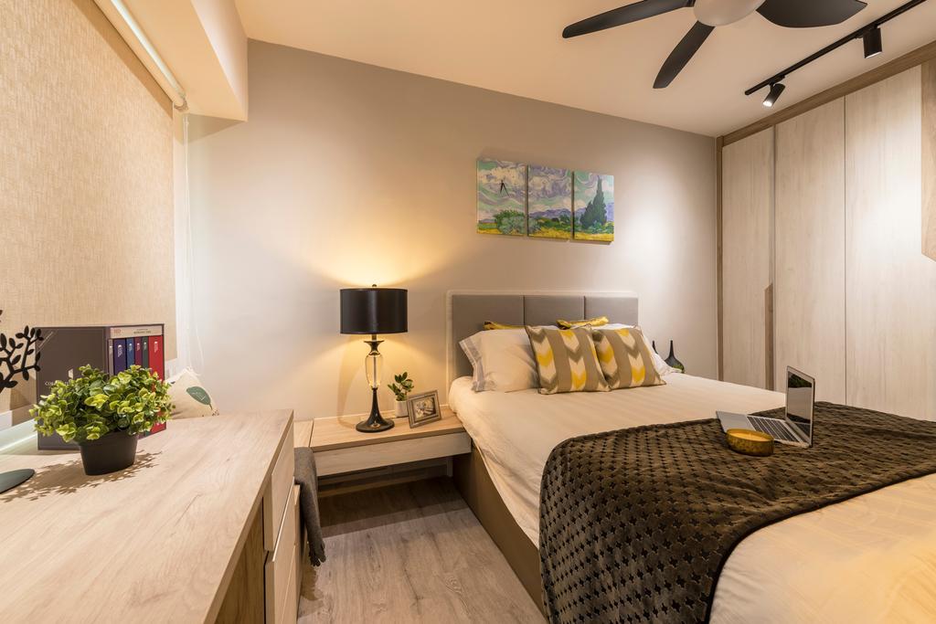 Contemporary, HDB, Bedroom, Serangoon North Ave 3, Interior Designer, Thom Signature Design