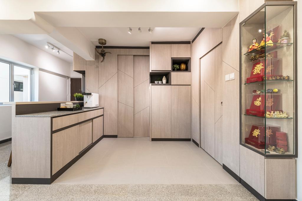 Contemporary, HDB, Living Room, Serangoon North Ave 3, Interior Designer, Thom Signature Design