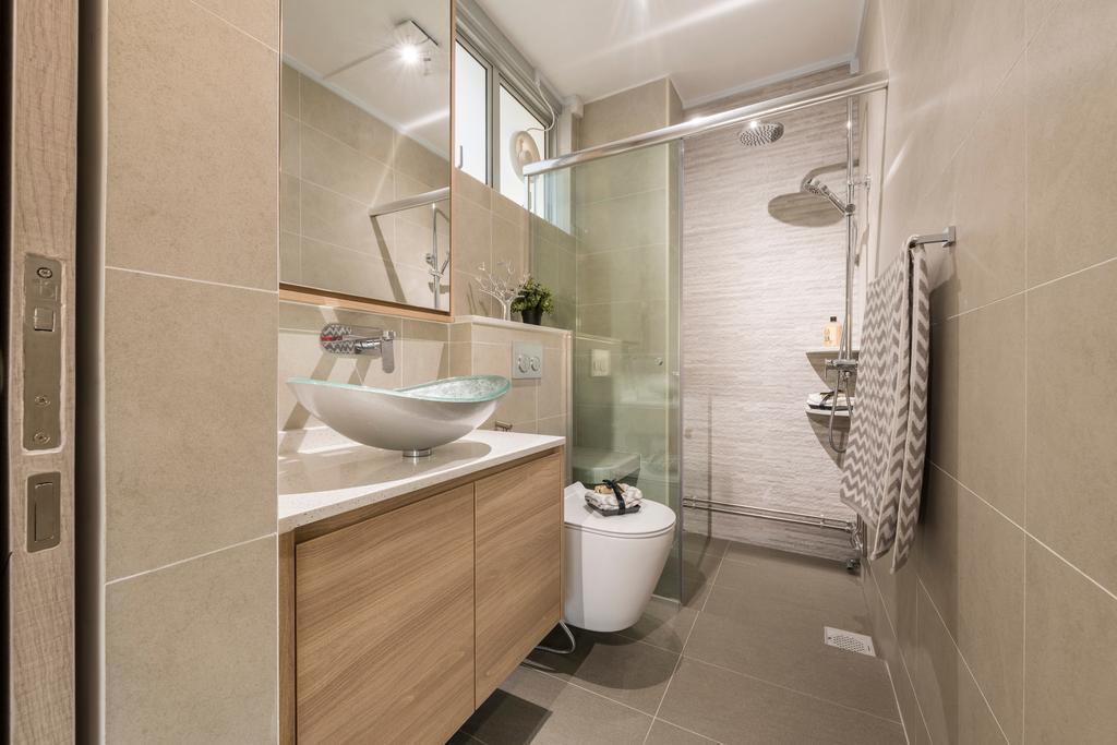 Contemporary, HDB, Bathroom, Serangoon North Ave 3, Interior Designer, Thom Signature Design