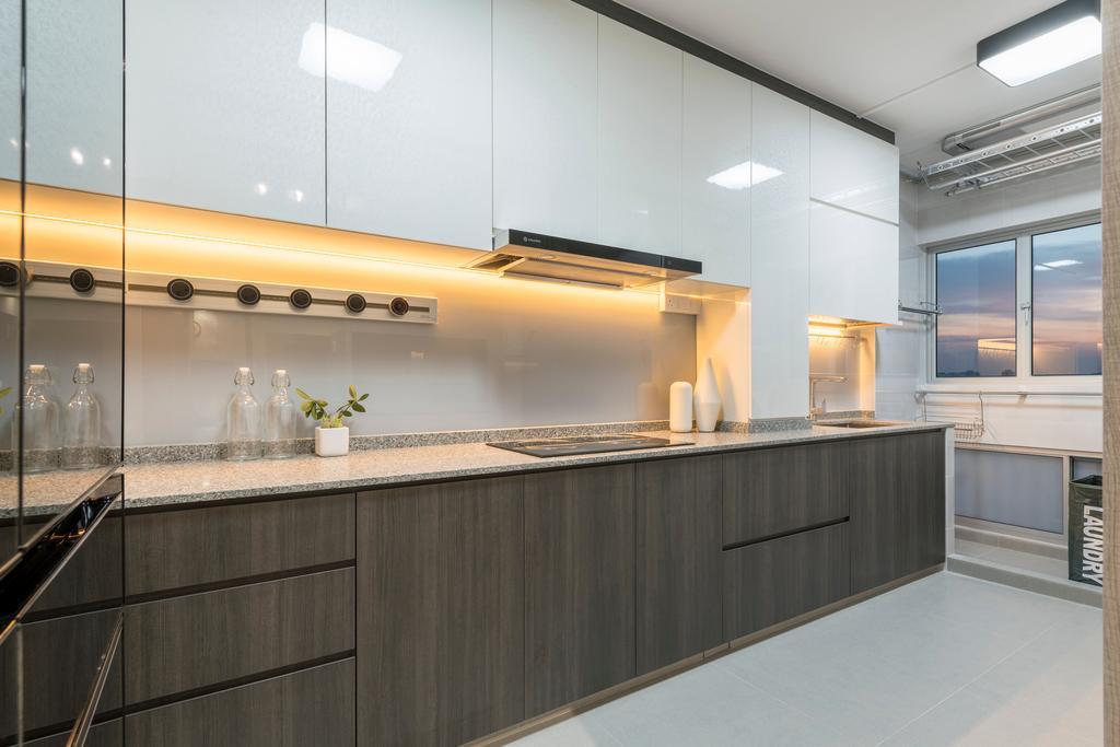 Contemporary, HDB, Kitchen, Serangoon North Ave 3, Interior Designer, Thom Signature Design