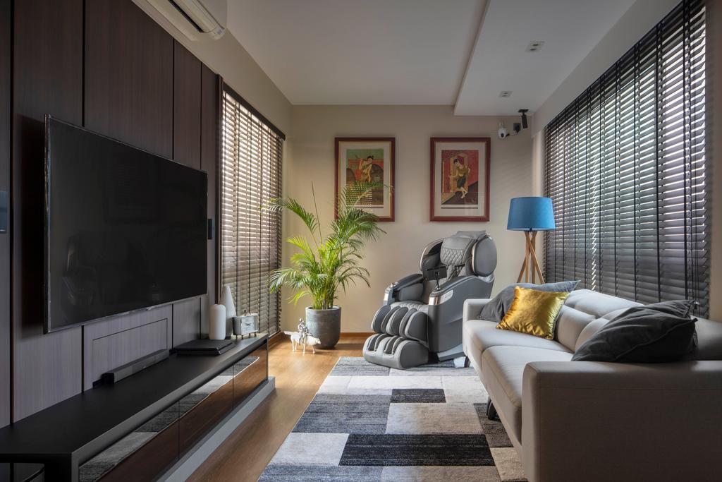Contemporary, Condo, Living Room, Savannah Condopark, Interior Designer, Thom Signature Design