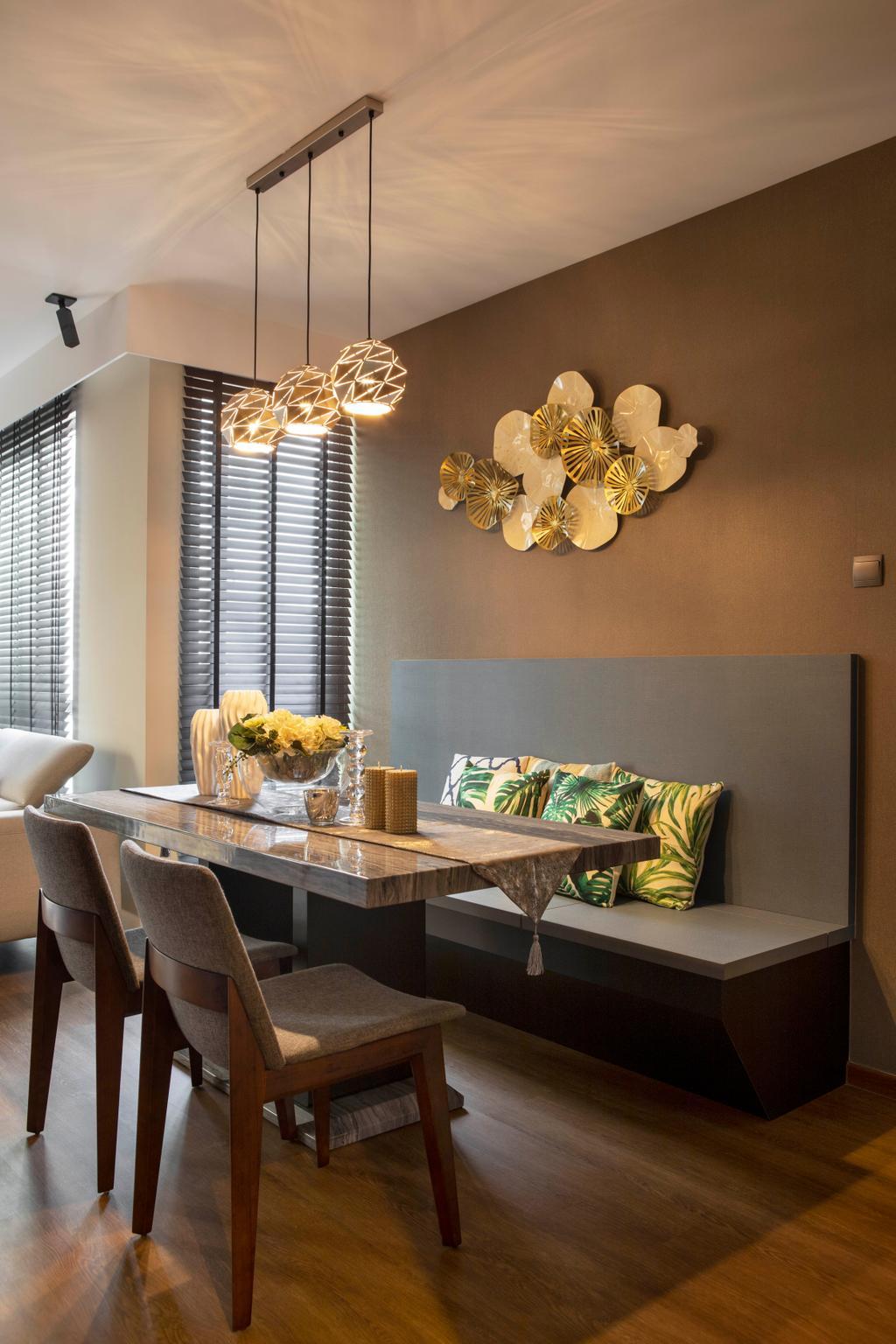 Contemporary, Condo, Dining Room, Savannah Condopark, Interior Designer, Thom Signature Design