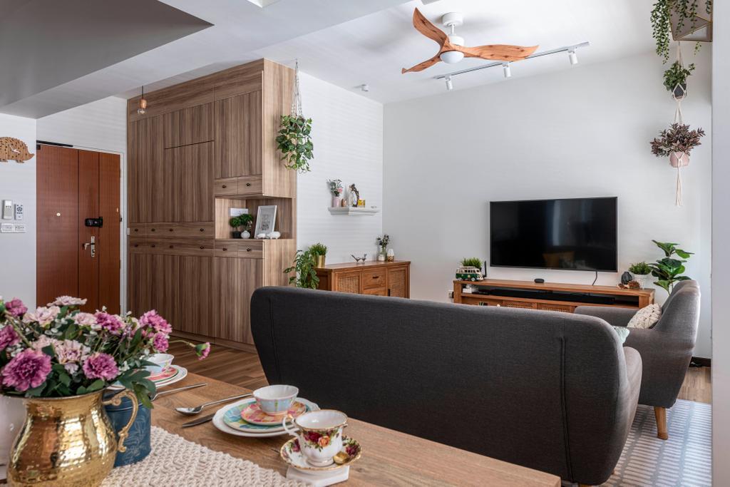 Contemporary, HDB, Living Room, Circuit Road, Interior Designer, Thom Signature Design