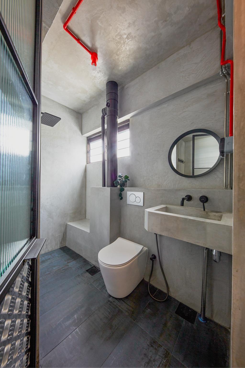 Industrial, HDB, Bathroom, Tampines Avenue 4, Interior Designer, MET Interior