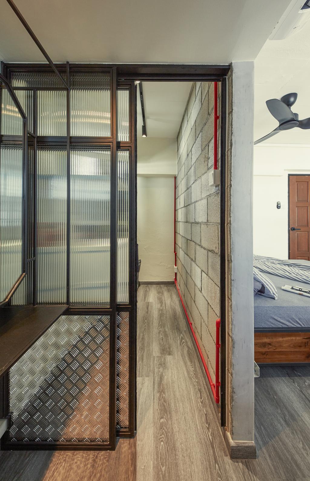 Industrial, HDB, Bedroom, Tampines Avenue 4, Interior Designer, MET Interior