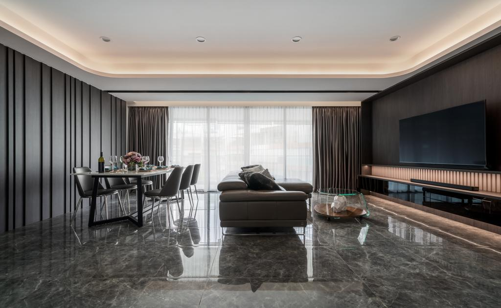 Contemporary, Condo, Living Room, The Beverly, Interior Designer, Summerhaus D'zign