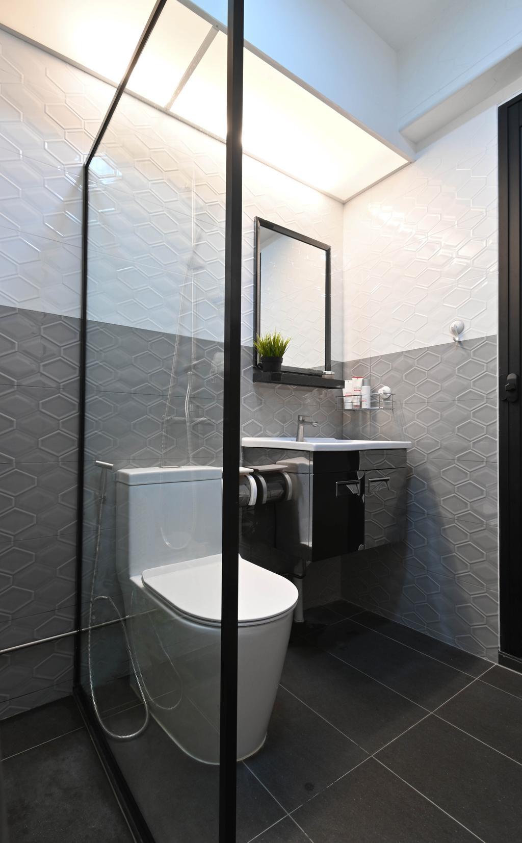 Contemporary, HDB, Bathroom, Sengkang East Avenue, Interior Designer, Yang's Inspiration Design