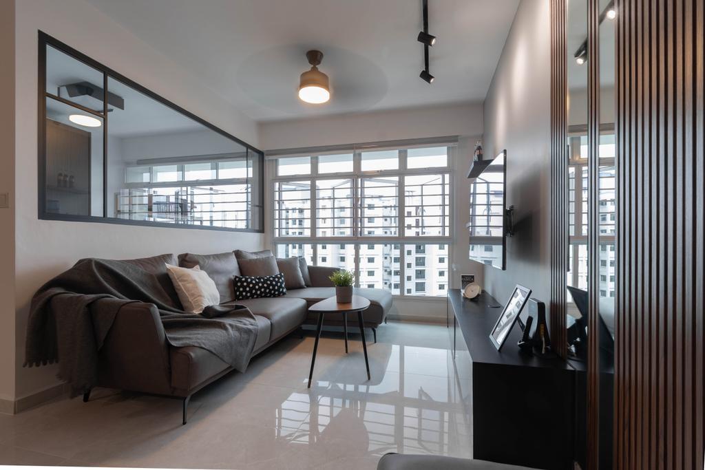 Contemporary, HDB, Living Room, Sengkang East Avenue, Interior Designer, Yang's Inspiration Design