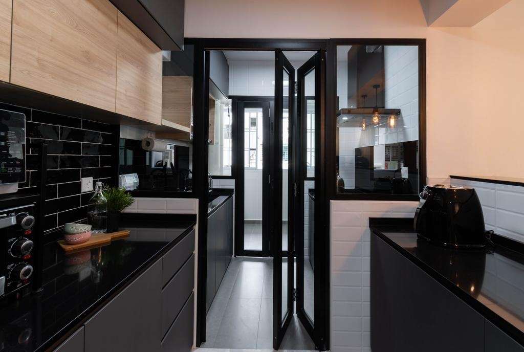 Contemporary, HDB, Kitchen, Sengkang East Avenue, Interior Designer, Yang's Inspiration Design