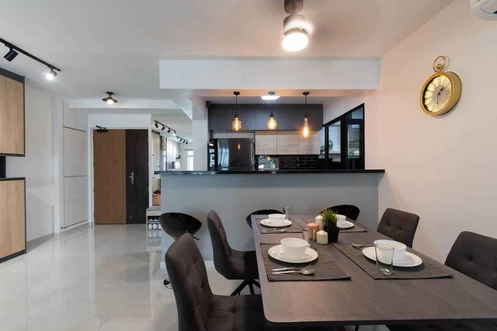 Contemporary, HDB, Dining Room, Sengkang East Avenue, Interior Designer, Yang's Inspiration Design