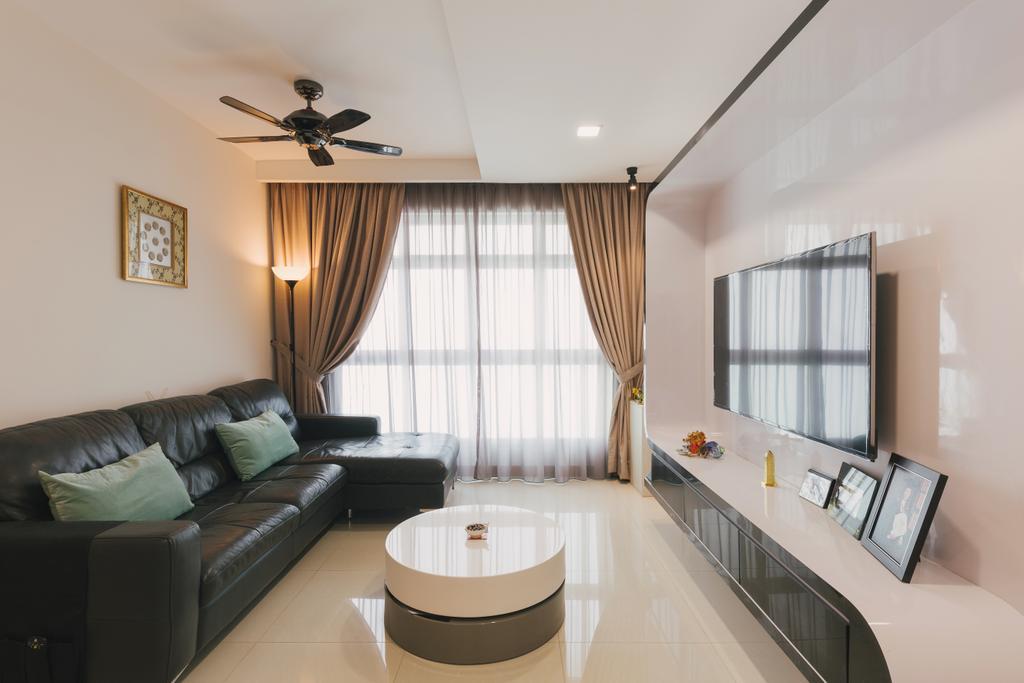 Modern, HDB, Living Room, Sengkang East Avenue, Interior Designer, D & T Creation