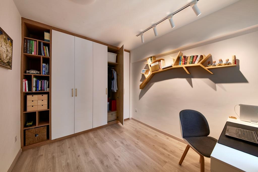 Scandinavian, HDB, Study, Kim Tian Road, Interior Designer, Free Space Intent, Contemporary
