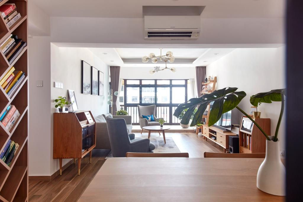 Scandinavian, HDB, Living Room, Kim Tian Road, Interior Designer, Free Space Intent, Contemporary