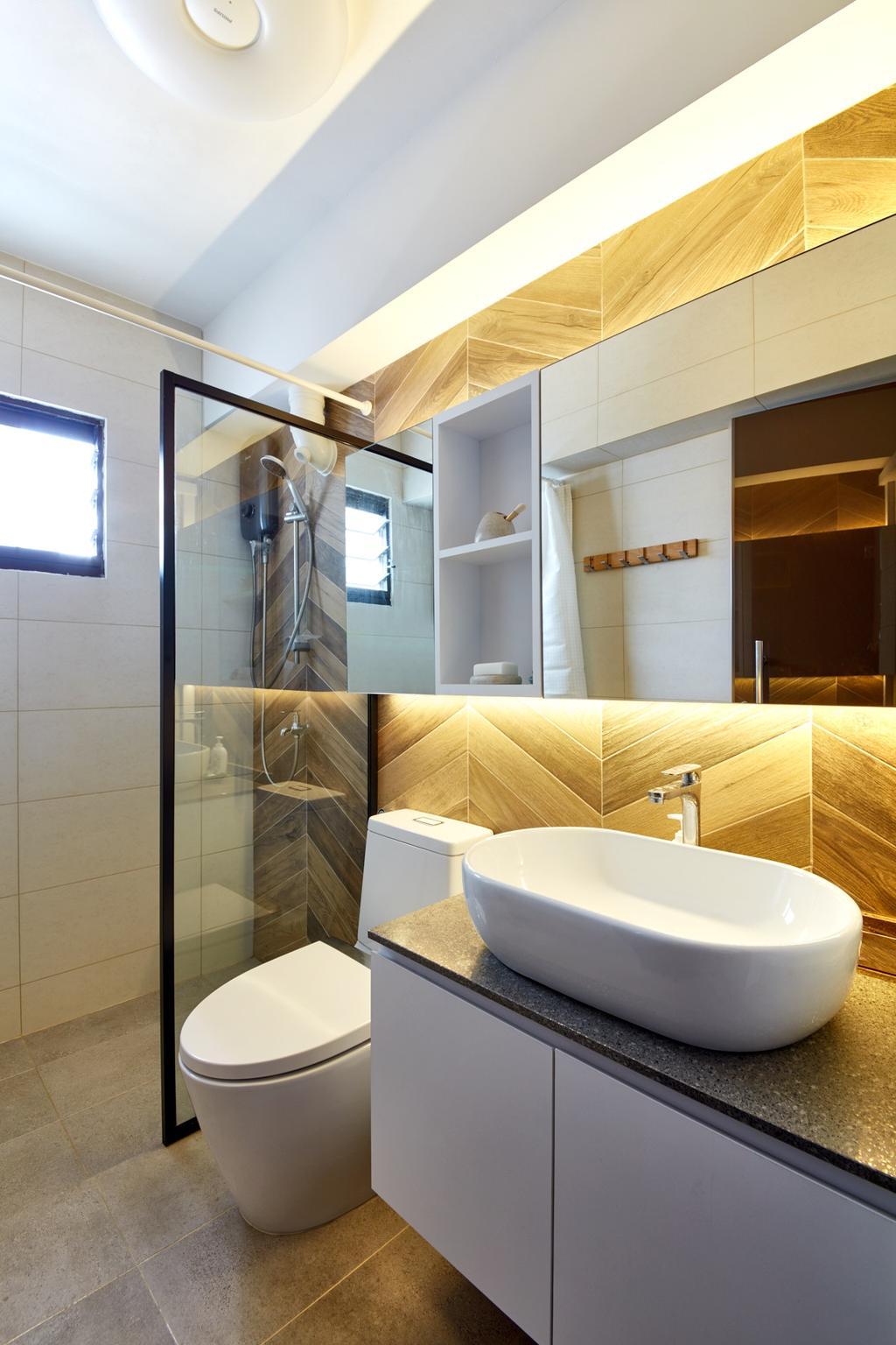 Scandinavian, HDB, Bathroom, Kim Tian Road, Interior Designer, Free Space Intent, Contemporary