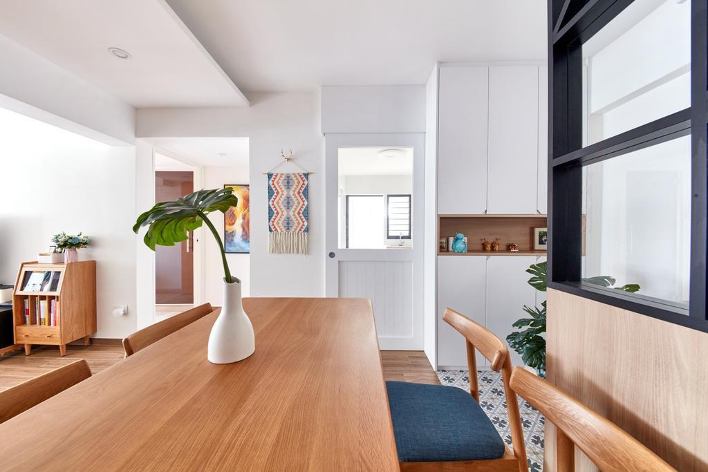 Scandinavian, HDB, Dining Room, Kim Tian Road, Interior Designer, Free Space Intent, Contemporary