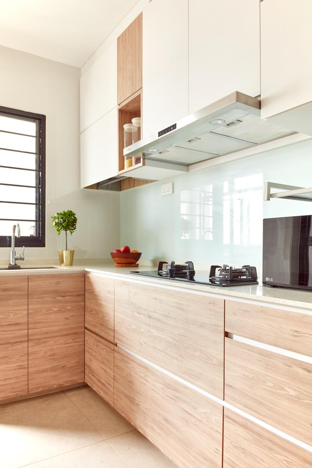 Scandinavian, HDB, Kitchen, Kim Tian Road, Interior Designer, Free Space Intent, Contemporary