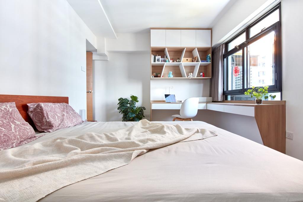 Scandinavian, HDB, Bedroom, Kim Tian Road, Interior Designer, Free Space Intent, Contemporary