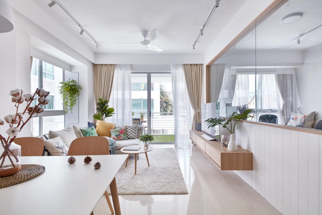 Scandinavian, Condo, Dining Room, The Medley, Interior Designer, Free Space Intent