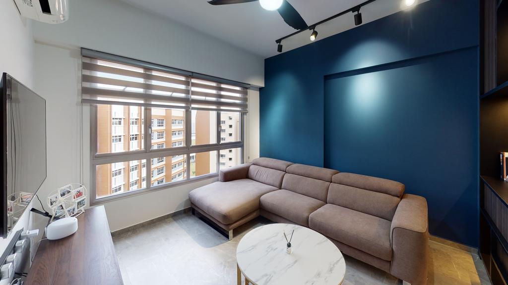 Contemporary, HDB, Living Room, Buangkok Link, Interior Designer, Stylemyspace